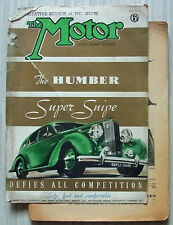 The MOTOR Magazine 18 Oct 1938 THIRD SHOW NUMBER HUMBER SUPER SNIPE Tested