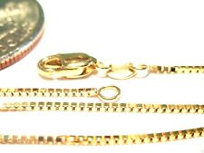 14kt Yellow Gold 30 inch .8MM BOX CHAIN with Lobster Lock! ......100% Guaranteed