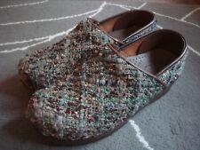 SANITA green & brown tweed clogs size 39 ( 8.5 )
