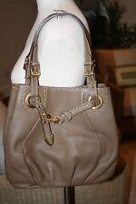 Fendi Selleria Pomodorini Satchel Hobo Bag in Taupe Leather  EUC