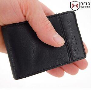 mini Geldbeutel für Männer, Leder Geldbörse Herren - RFID NFC klein Portemonnaie