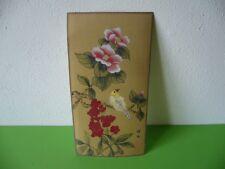 804K01 Altes Bild, Zeichnung, wohl Japan oder China, Blüten, Vogel
