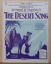 "One Alone - 1926 sheet music - from ""The Desert Song"", motion picture edition"