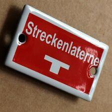 STRECKEN LATERNE Altes Emailschild um 1960 MAKELLOS Bahn DB RB Zug Eisenbahn LOK