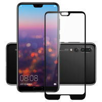 1X 9H 3D Curved Tempered Glass Screen Protector Film For Huawei P20 Pro Lite HH2