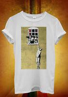 Banksy Naked Man Husband Cool Hipster Men Women Unisex T Shirt Tank Top Vest 458