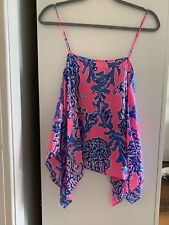 100% Silk Lilly Pulitzer Kimi Top Caught In The Coral Tank Sleeveless XS