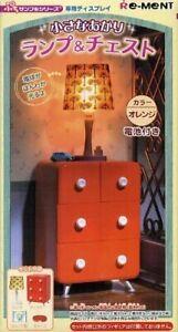 Re-Ment Dollhouse Miniature Orange Red Chest Dresser w/ lighting Mini Lamp RARE