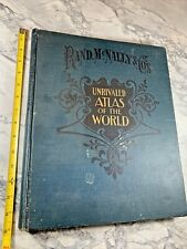 """1904 Antique Reference Book """"Rand McNally: Unrivaled Atlas of the World"""""""