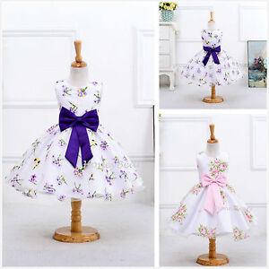 Pink Purple Flower Grils Dress Floral Party Dress Bridesmaid Corsage Dress