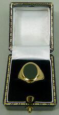 Piedra de Sangre Vintage 9K Oro Signet Anillo Talla N 1/2-Birmingham 1967 - 5.8 G