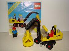 LEGO LEGOLAND VINTAGE 6678 : PNEUMATIC CRANE  + INSTRUCTION 1980