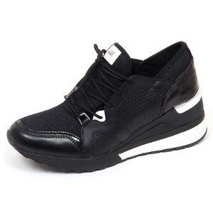 F0808 sneaker donna black MICHAEL KORS SCOUT TRAINER scarpe shoe woman