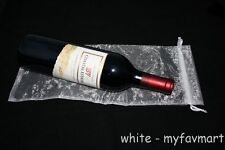 "10 White Wine Organza Pouch Gift Bag 6""x14"""