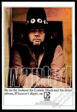 1969 Lonnie Mack photo Whatever's Right record release vintage trade print ad
