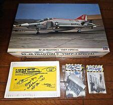 1/48 RF-4B CUTTING EDGE EARLY FLAT WING, INTAKES, H5 SEATS + HASEGAWA VMFP-3