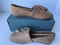 Toms Kelli, Women, Sz 6.5, Honey Leather Slip On Casual Loafer New In Box