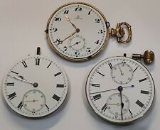 Vintage OMEGA Pocket Watch Movement & Faces - Job Lot of 3 - Great for Spares