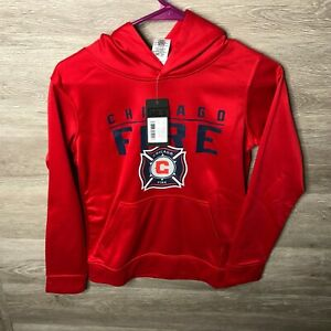 MLS Youth Medium 10/12 Chicago Fire Pullover Hoodie NEW
