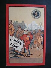 ORIGINAL ADVERTISING POSTCARD BOARDING  FERRY OSTENDE DOVER 1921