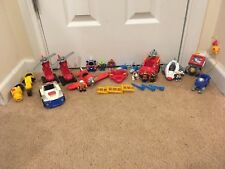 Imaginext Fisher Price Mini figures Men Rescue Cars Vehicles Police Fire Shark
