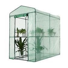 iKayaa 4 Shelves Reinforced PE Cover Water-proof Mini Walk In Greenhouse Z3T3