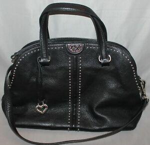 Brighton Jolene Domed Satchel In Black Leather Purse Shoulder Bag F677143