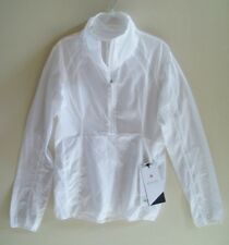 LULULEMON Run With It Jacket White Size 4 New With Tags FREE SHIPPING