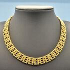 Vintage Necklace NAPIER 1980s Gold Plated Basket Weave Link Bridal Jewellery