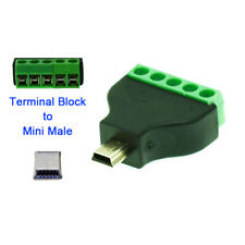 Mini USB male to terminal block USB plug connector MINI USB Type-A Adapter