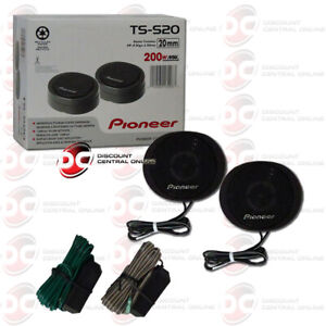 "PIONEER TS-S20 3/4"" CAR AUDIO HIGH POWER COMPONENT DOME TWEETERS"