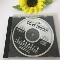 Chevy Trucks S Blazer SUV CD Introduction To Vehicle Options Features GM Auto