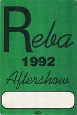 Reba McEntire 1992 Call concert Tour Backstage Pass! Authentic Original Otto