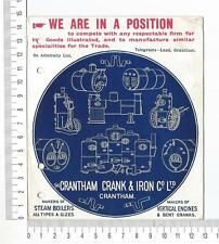 "17940) UK 13.2.1905 Advrt PC ""...Crank & Iron..."" Grantham K..."