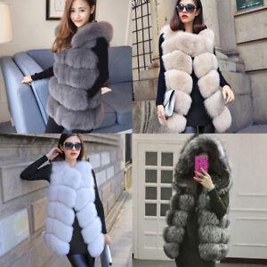 Women Faux Fur Gilet Sleeveless Jacket Coat Warmer Body Waistcoat Outwear Vest