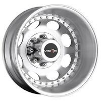 "Vision 181 Hauler Dually Rear 17x6.5 8x6.5"" Machined Wheel Rim"