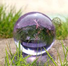 NEW! Beautiful purple glass crystal healing magic ball 40mm + sitting.255