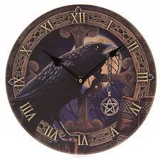 Orologio da Parete Corvo con Talismano 30cm Design Lisa Parker Stanzetta Casa