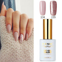 2 PIECES RS 134_239 Gel Nail Polish UV LED Sequined Pink Varnish Soak Off 15ml