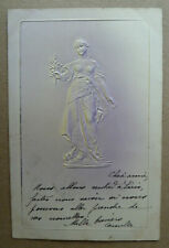 Very Early Postcard F M Koln- Lady -Embossed- Posted 1903