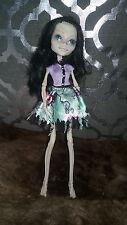 OOAK Monster High Repaint Doll Skeleton Lady