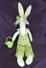 "RAZ Imports 22"" Bunny w/Cabbage Basket Carol King-Paula Buttel adjustbl 6"" Ears"