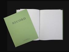 Green Military Log Book, Record Book, Memorandum Book 8 X 10-1/2 Green Log Book