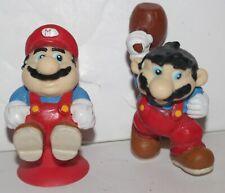 Lot of 2 Mario PVC Figures Vintage Nintendo Applause Donkey Kong Hammer Jumpman