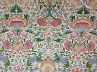"William Morris Curtain Fabric ""Lodden"" 1M Blush/Woad Cotton Archive Prints ii"
