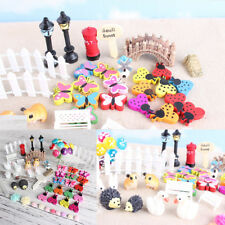 58x Miniature Fairy Garden Ornament Pot DIY Craft Accessories Dollhouse decor GN