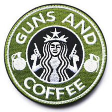 USA ARMY WAR AND COFFEE AIRSOFT PAINTBALL MORALE BADGE HOOK & LOOP PATCH