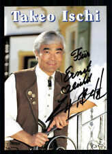 Takeo Ischi Autogrammkarte 90er Jahre Original Signiert +13975 + 33817