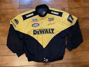 Vintage Matt Kenseth #17 DeWalt Racing Jacket Mens Size X Large NASCAR 2000 JH