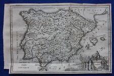 Original antique map ANCIENT SPAIN, BALEARIC ISLANDS, Isaac Basire, 1747